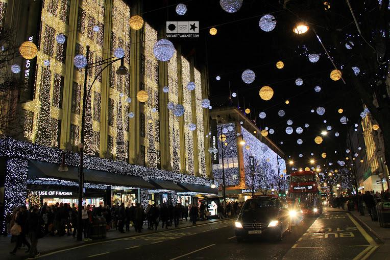 oxford street, lumini craciun