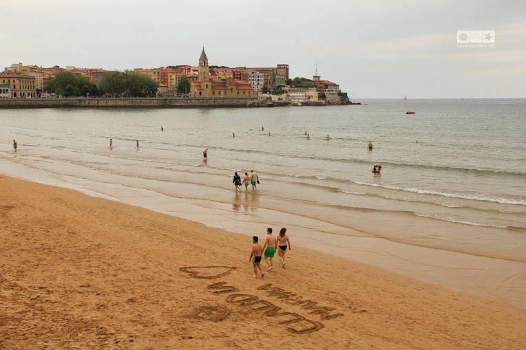 Gijon, plaja San Lorenzo